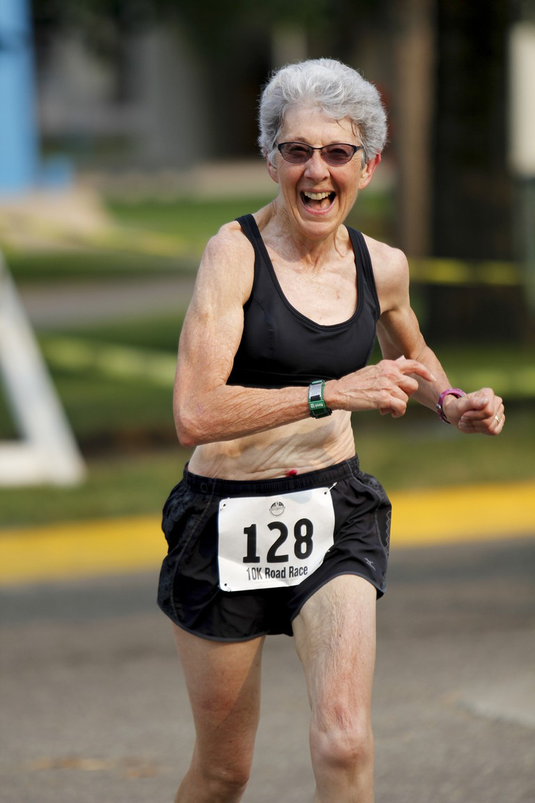Dee Boeck of Kansas, placed third in the female 65-69 division in the 10K at the 2015 National Senior Games. | © Shannon Neilon