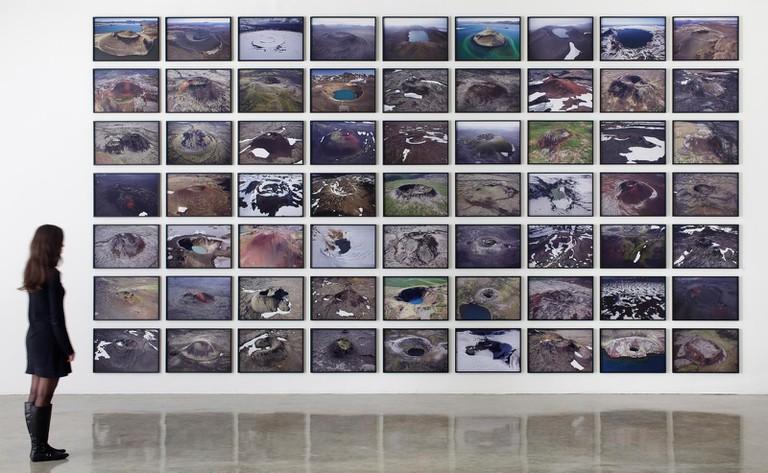 Ólafur Eliasson, The Volcano Series, 2012, Installation view at Tanya Bonakdar Gallery, New York | Courtesy of Olafur Eliasson Studio. Photo by Jean Young.