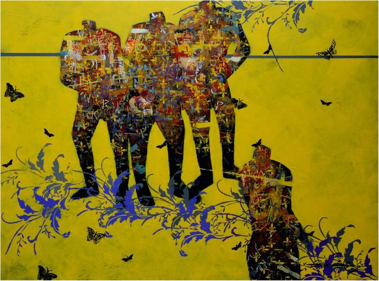 Ola Balogun, <i>Love</i>, oil on canvas, 2016 | Courtesy of Hourglass Gallery