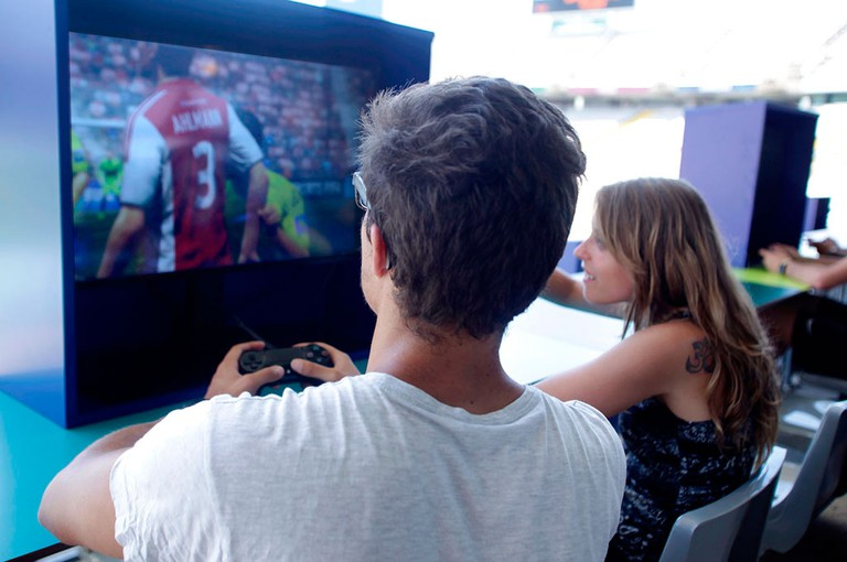 Visitors can play FIFA on PS4 Courtesy of Open Camp