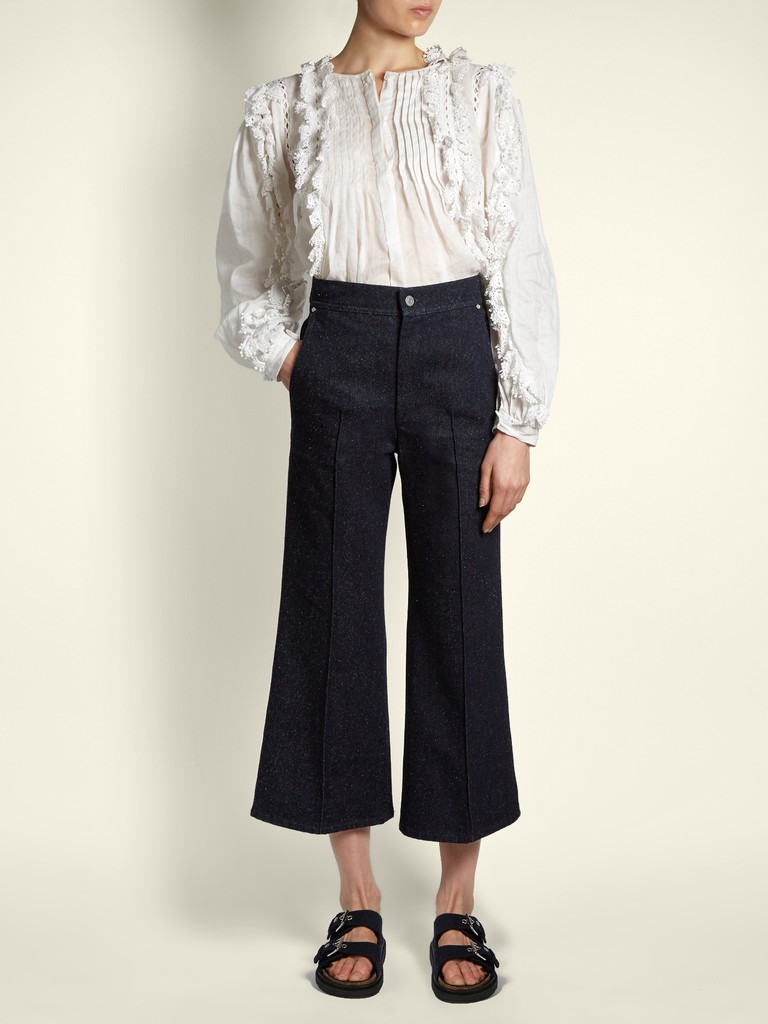 http://www.matchesfashion.com/products/Isabel-Marant-Parsley-kick-flare-cropped-jeans-1161364
