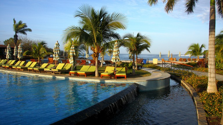 Relax by the pool and the sea
