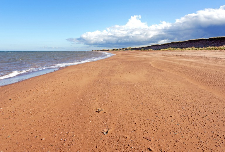 The red shores of Prince Edward Island
