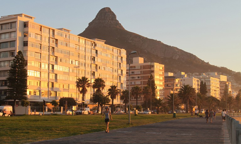 Sunset on the Sea Point Promenade