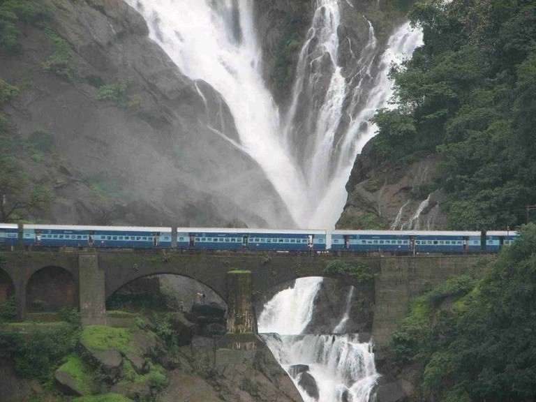 A train in Igatpuri, Maharashtra