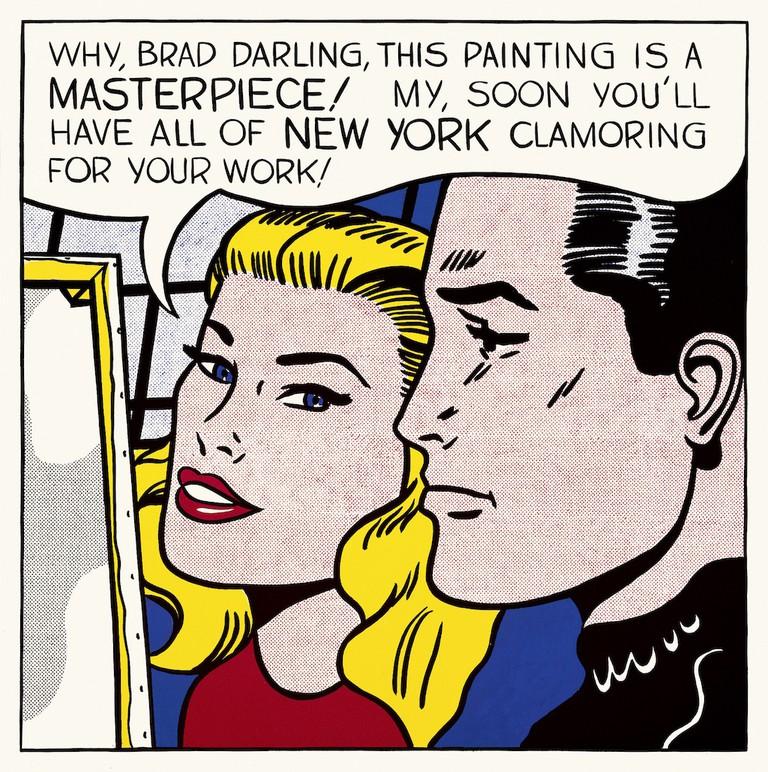 Roy Lichtenstein's Masterpiece, (1962)   © Estate of Roy Lichtenstein.