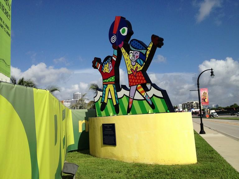 A Romero Britto sculpture