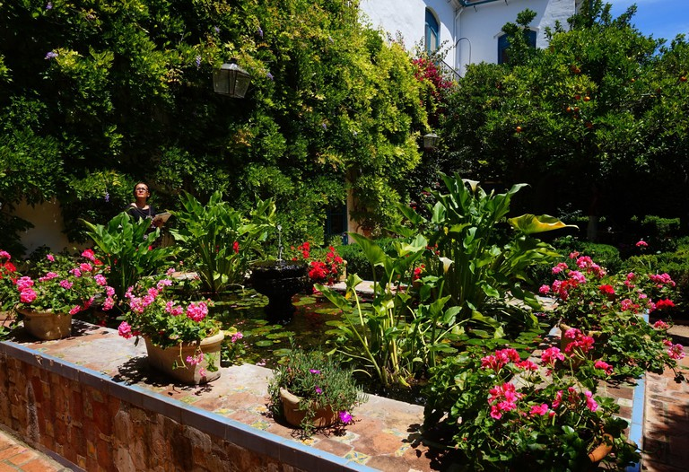 Sumptuous gardens in the Palacio de Viana; Encarni Novillo