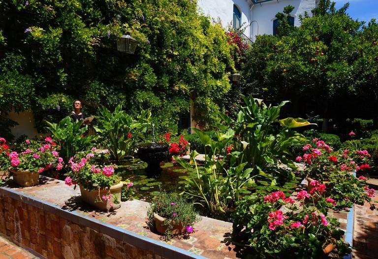 Lush gardens in Santa Marina's Palacio de Viana