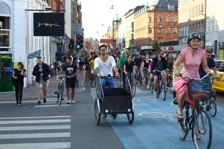 Bike traffic at Nørrebrogade