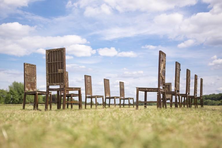 Hew Locke, The Jurors, 2015 at Runnymede