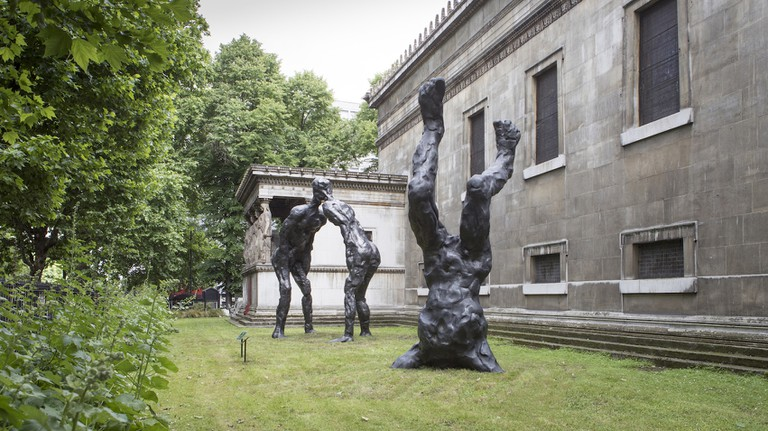 David Breuer-Weil's Alien and Brothers installed at St Pancras New Church