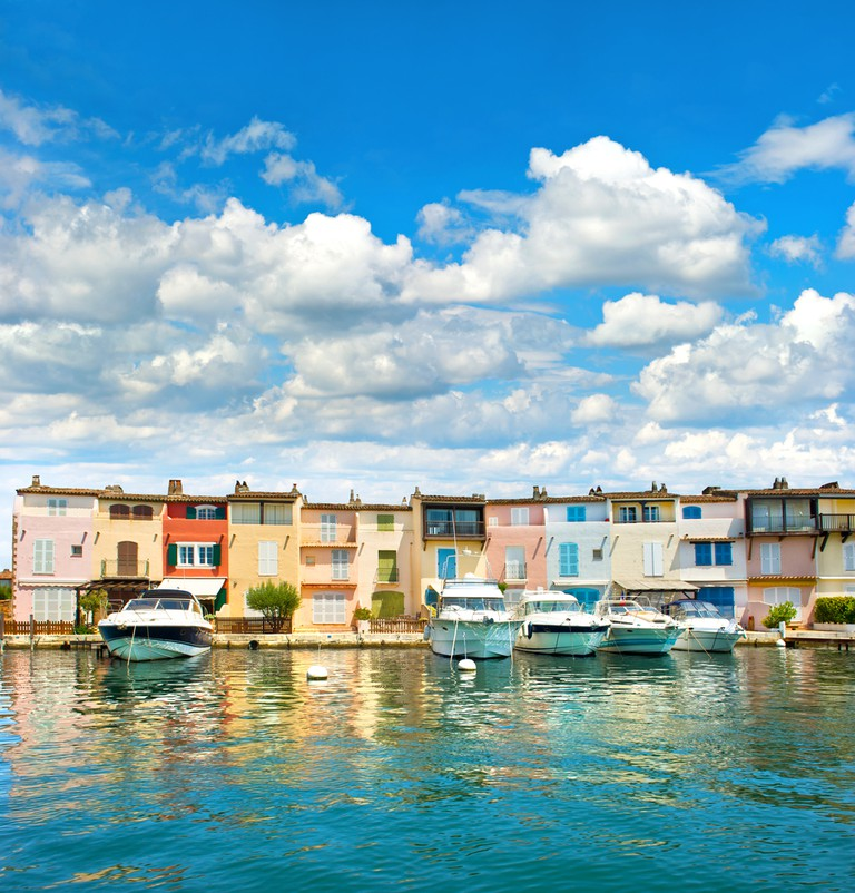The towns along the coast by Port Grimaud are radiant