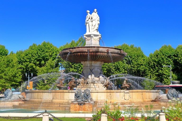 La Rotonde is perhaps the most famous, and the most central, of all Aix's fountains