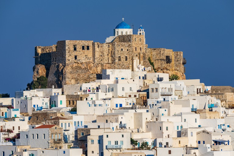 The Querini castle in Astypalaia island Greece