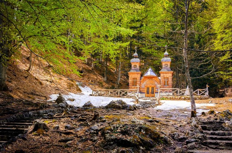 Russian chapel in Vršič