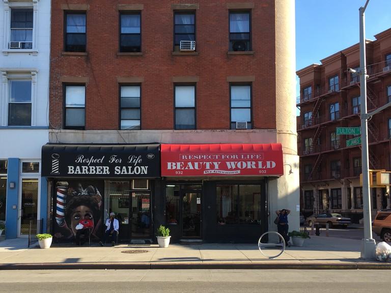 Respect For Life Barber Salon, Fulton Street   © Katrina Fuller/Culture Shop