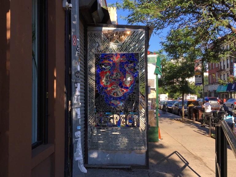 Notorious B.I.G. mural, Key Food, Fulton Street