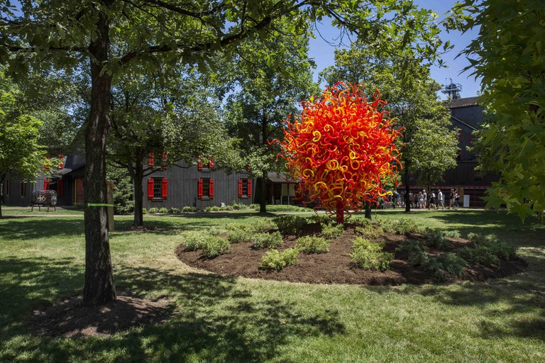 """Chihuly's """"Summer Sun"""" at Maker's Mark"""