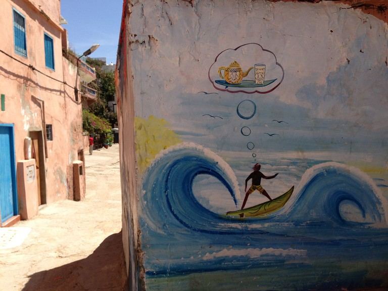 Taghazout surf mural