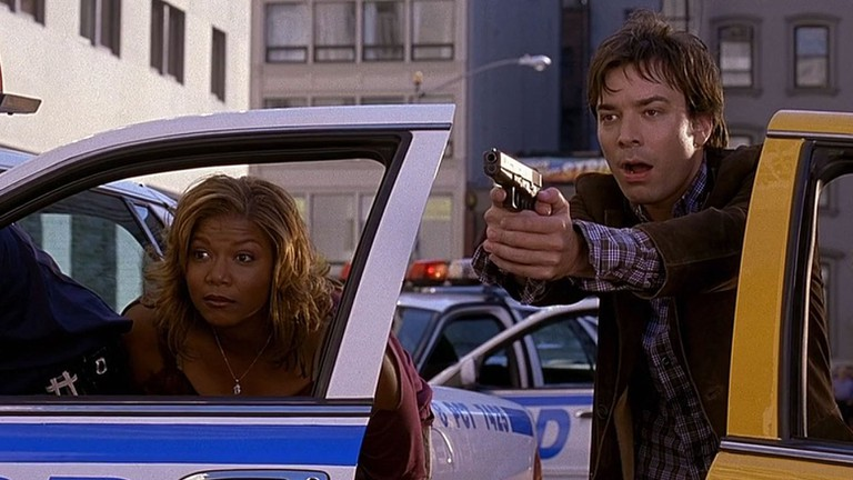 Queen Latifah and Jimmy Fallon in 'Taxi' | © 20th Century Fox