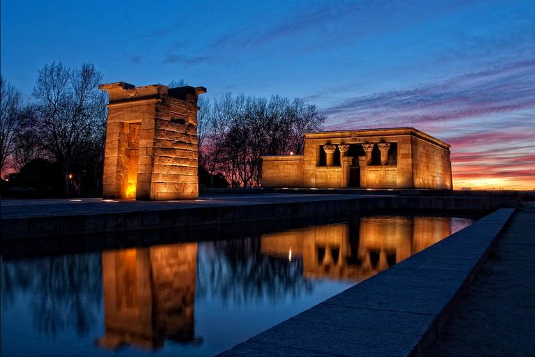 Madrid's Templo de Debod Egyptian temple