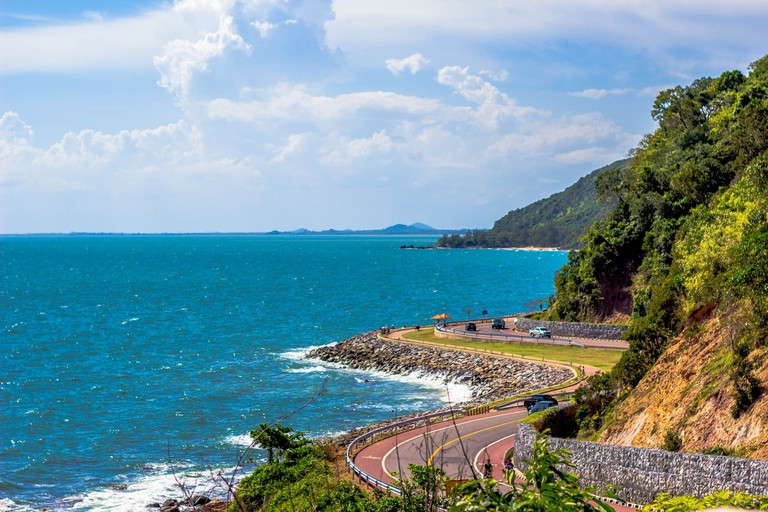 Drive along the coast in Thailand