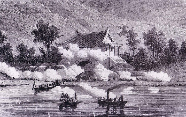 The French landing at Ganghwa Island in 1866 │© Anonymous / Wikimedia Commons