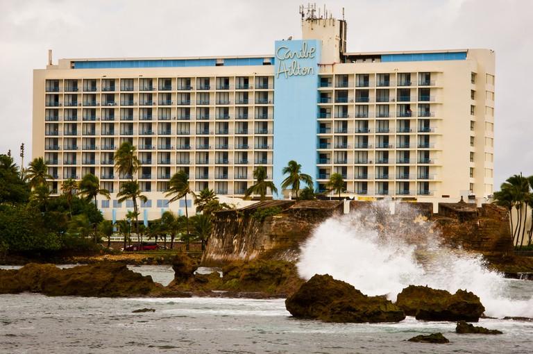 The Hotel Caribe Hilton in San Juan