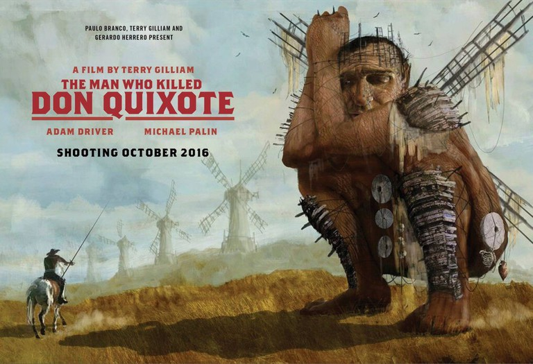 Poster presented at Cannes, May 2016. Jonathan Pryce replaced Michael Palin as Quixote | © Alfama Films