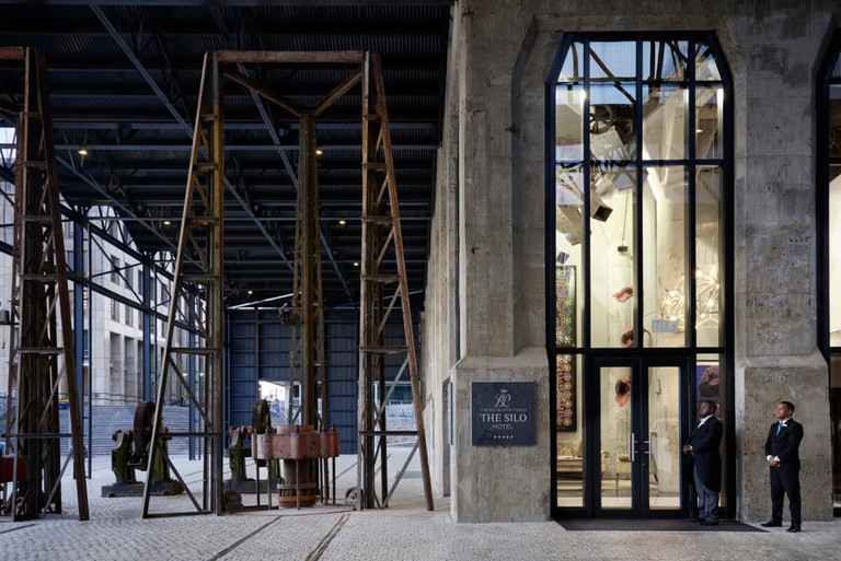 The entrance to The Silo is grand but undeniably industrial
