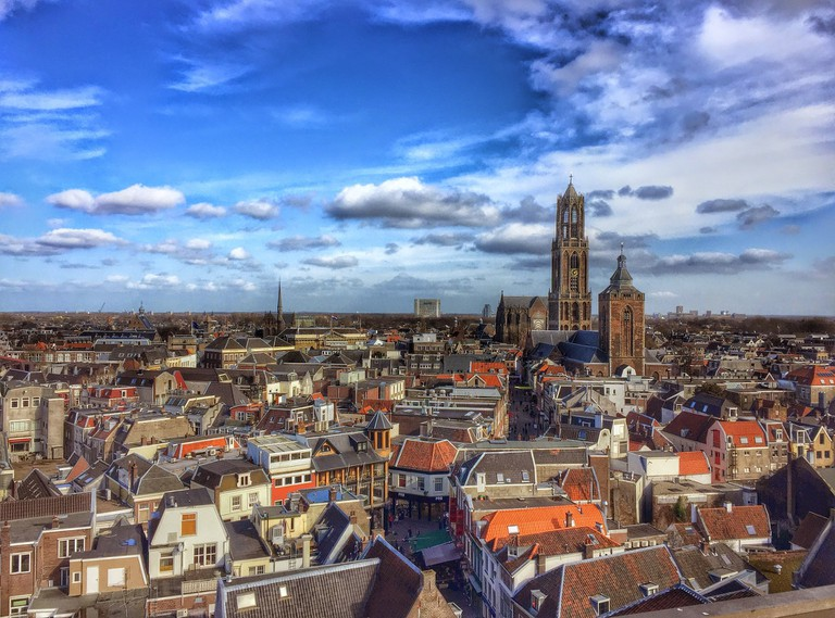 Utrecht's historic city centre gravitates around a giant Medieval bell tower called the Dom Tower