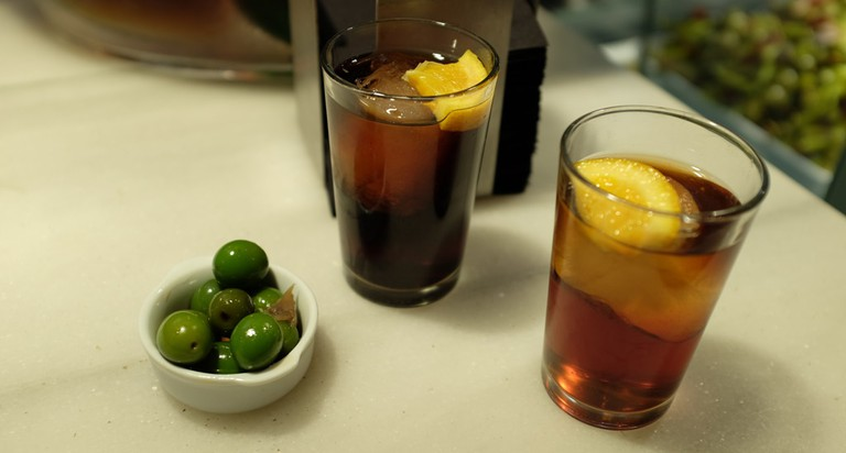 Vermouth and some olives