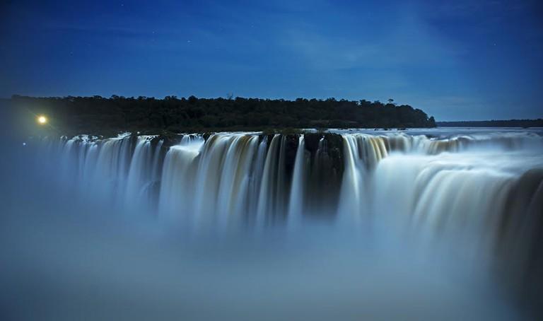 Iguazu Falls at night