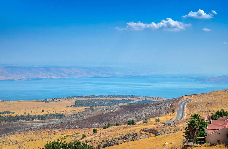 View of the Sea of Galilee and the Galilee range