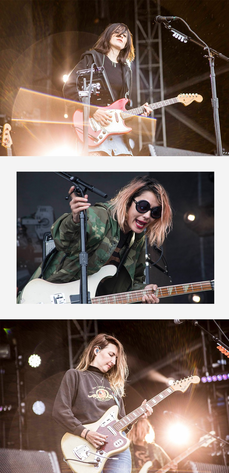 Sunday started off grey and rainy, but that didn't stop anyone from seeing Warpaint, who played on the Big Apple stage