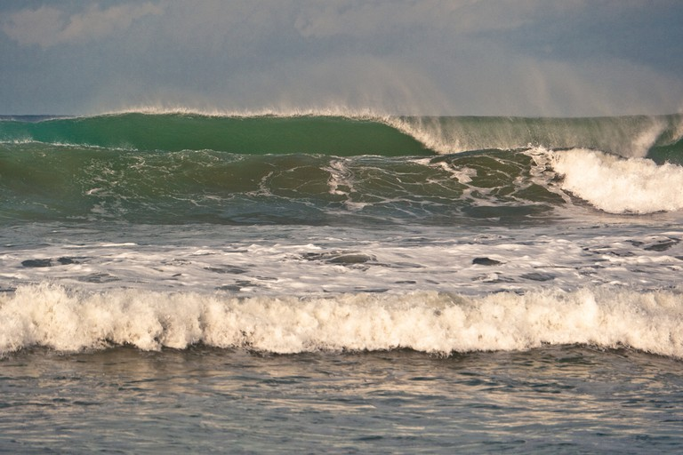 Deep barrels in Dominical
