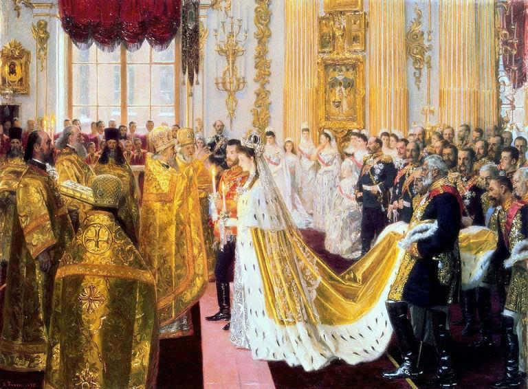 Wedding of Nicholas II and Alexandra Feodorovna,1895 | Laurits Tuxen / Wikimedoa Commons