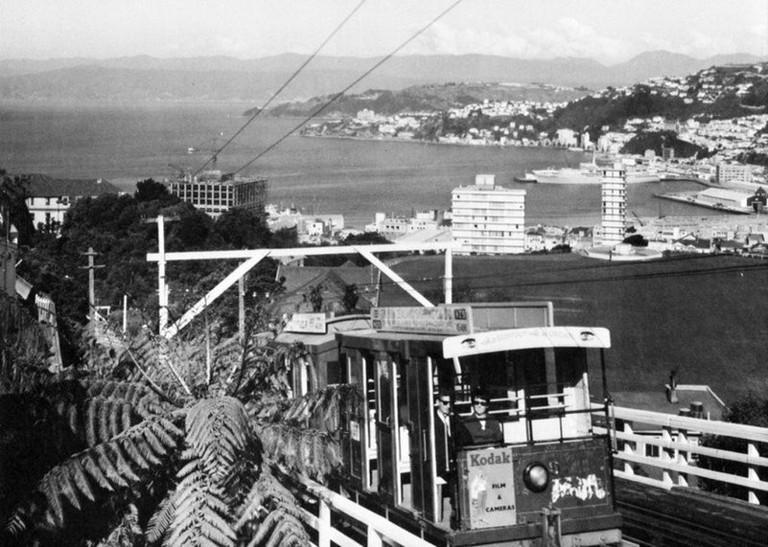 Wellington Cable Car in 1970