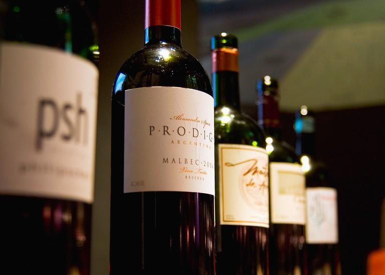 Wine selection in Mendoza