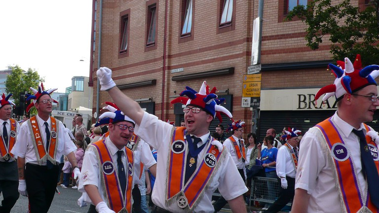 The 'return' march on The Twelfth