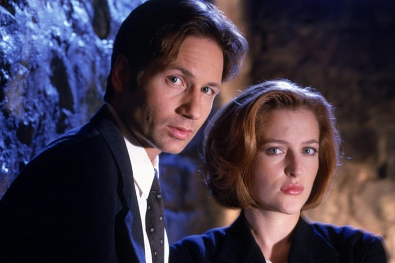 Mulder and Scully in The X-Files
