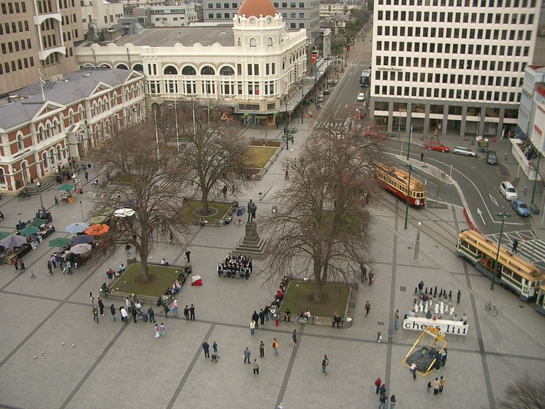 View of Cathedral Square from the ChristChurch Cathedral in 2006
