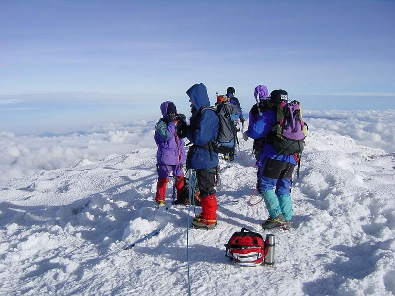 Climbers on Chimborazo