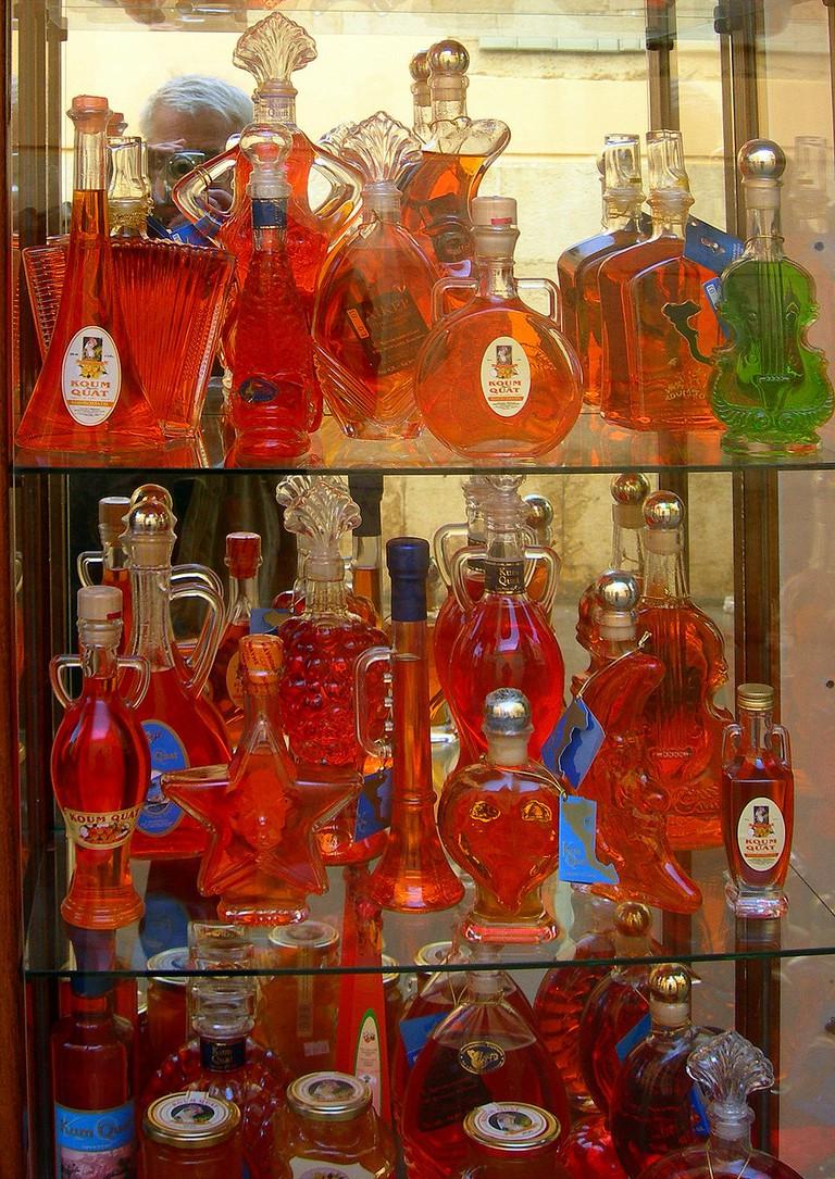 Famous Kumquat liqueur from Corfu, Greece