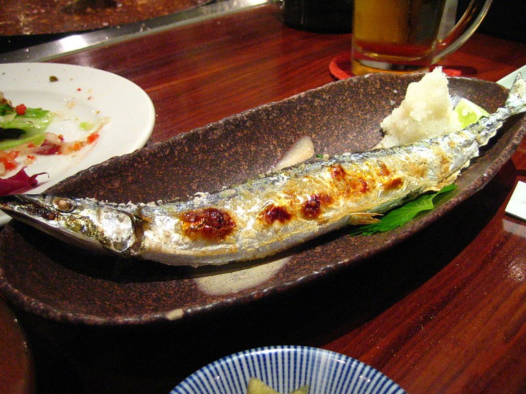 Grilled Pacific Saury (sanma)