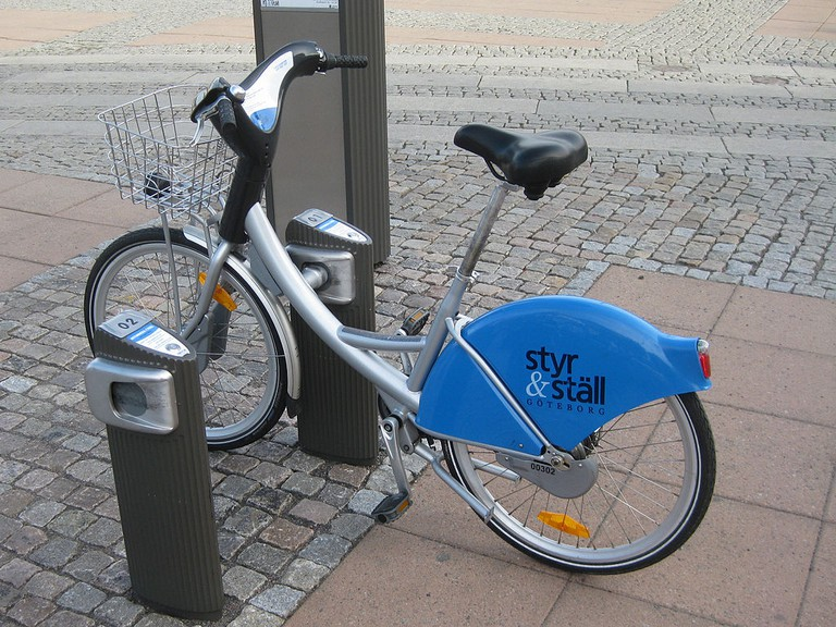 Like all Swedish cities, Gothenburg has an excellent city bike scheme / Photo courtesy of Wikipedia Commons