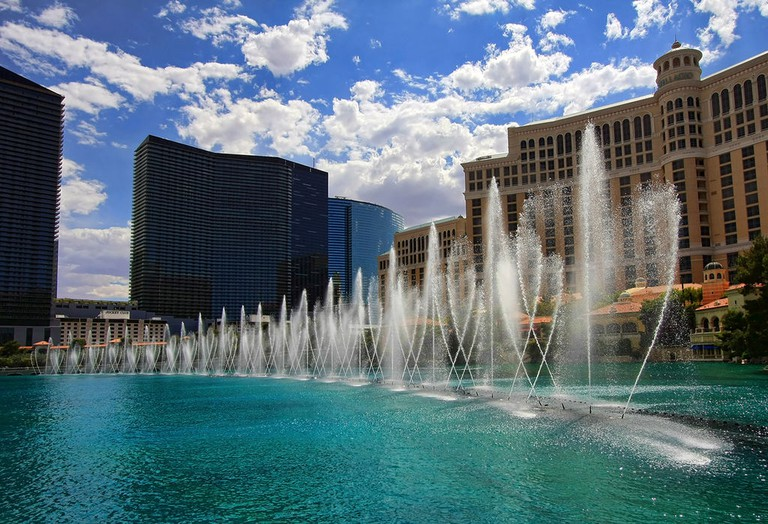 The Bellagio fountains. © PhotographersNature/WikiCommons