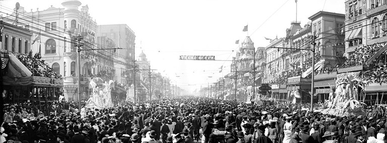 The Rex Pageant, Mardi Gras, New Orleans, 1907