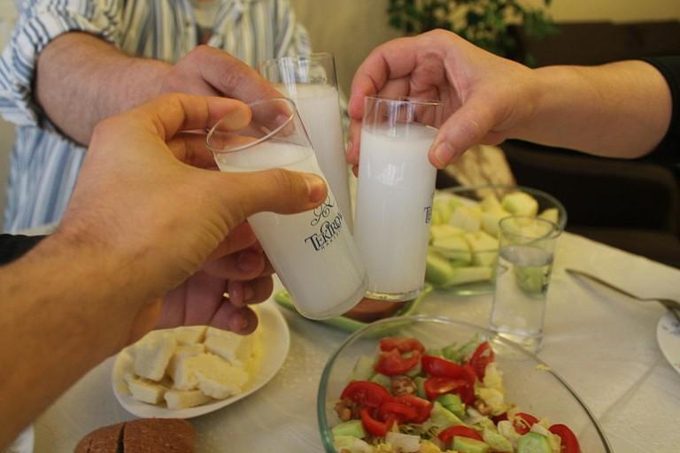 Toasting with Rakı